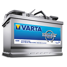 Start Stop battery by Varta supplied by SES, Bognor