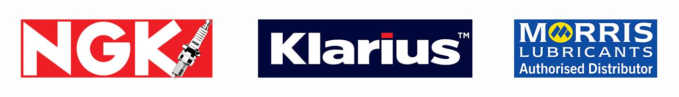NGK, Klarius and Morris Lubricants