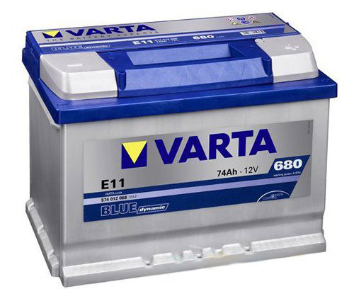 Car battery by VARTA one of the many automobile products sold by Sussex Engine Supplies, Bognor Regis.